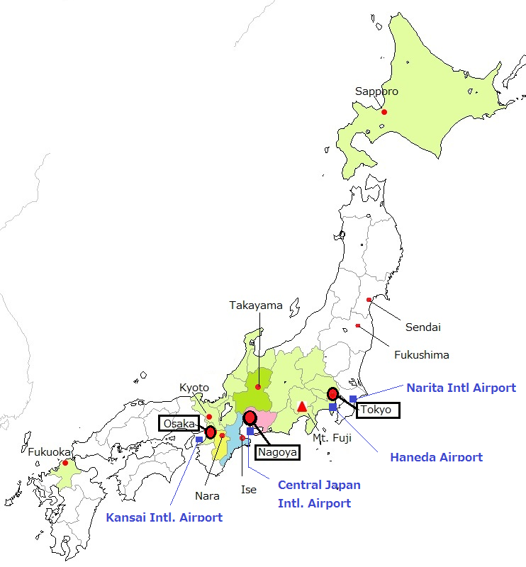 Issw Th International Symospium On Shock Waves - Japan map nagoya